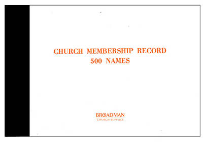 Church Membership Record Book