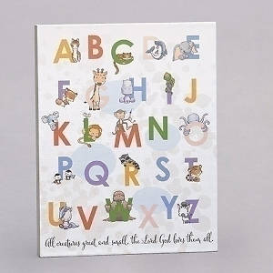 "Picture of Alphabet Plaque-All Creatures Great And Small (14"")"