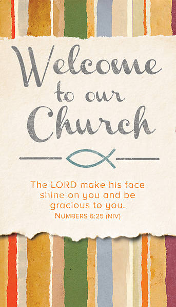 Picture of Welcome To Our Church Pew Card