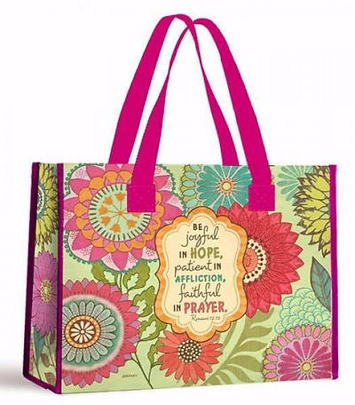 Picture of Joyful Flowers Nylon Tote Bag