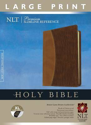 Picture of Premium Slimline Reference Bible-NLT-Large Print