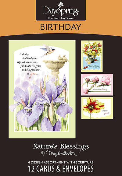 Natures Blessings - Birthday Boxed Cards - Box of 12
