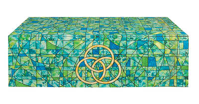 Symbols of Faith Series Stained Glass Trinity Altar Frontal