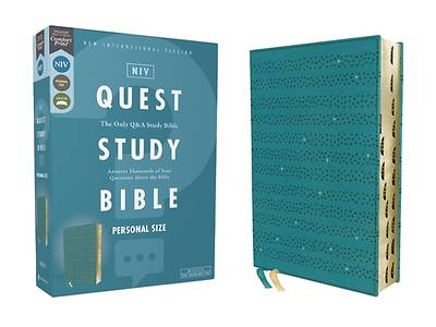 Picture of Niv, Quest Study Bible, Personal Size, Leathersoft, Teal, Thumb Indexed, Comfort Print