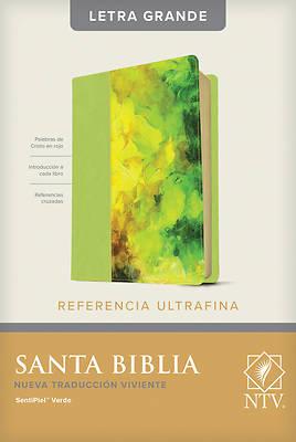 Picture of Santa Biblia Ntv, Edicin de Referencia Ultrafina, Letra Grande (Letra Roja, Sentipiel, Verde)