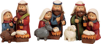 Mini Resin Nativity Figure, 3 Various Designs