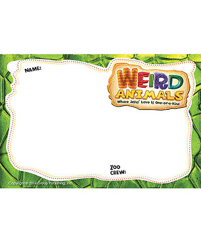 Weird Animals Name Badges 10pk