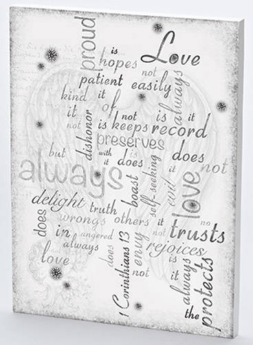 1 Corinthians Puzzle Like Wall Plaque 16""