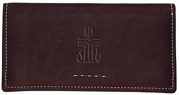 Fossil Genuine Leather Womens Checkbook Cover with PCUSA Logo