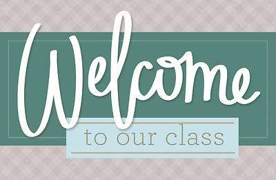 Picture of Welcome to Our Class General Postcard