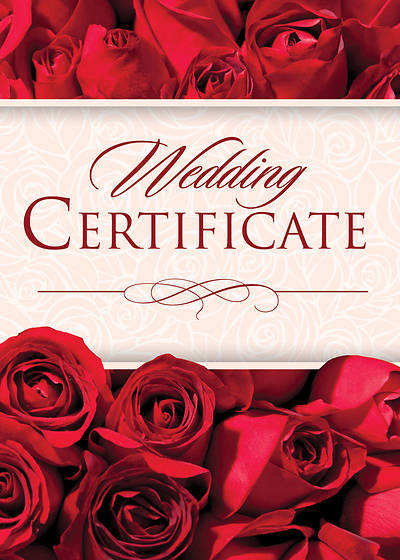 Wedding Red Foil Certificate