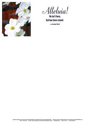 Picture of He Isn't Here Dogwood Easter Letterhead (Pkg of 50)