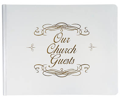 Large Church Guest Book - White
