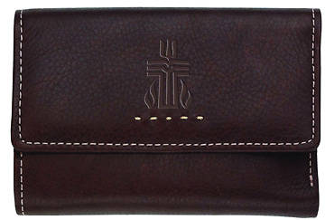 Fossil Genuine Leather Womens Multifunction Wallet with PCUSA Logo