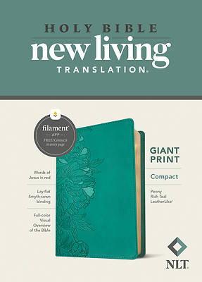 Picture of NLT Compact Giant Print Bible, Filament Enabled Edition (Red Letter, Leatherlike, Peony Rich Teal)