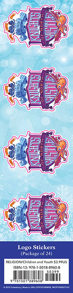 Picture of Vacation Bible School (VBS) 2020 Knights of North Castle Logo Stickers (Pkg of 24)