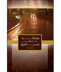 Thy Word is a Lamp Bulletin Regular Size (Package of 100)