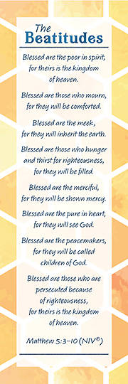 Picture of The Beatitudes Bookmark Matthew 5:3-10 (Package 25)