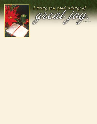 Picture of Great Joy Christmas Letterhead ENGLISH