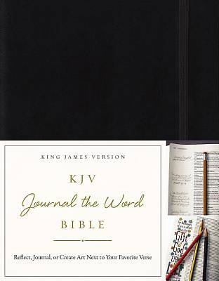 KJV, Journal the Word Bible, Hardcover, Red Letter Edition