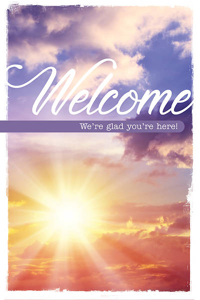 Welcome We're Glad You're Here Church Folder