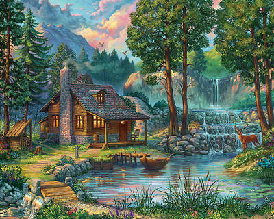 Picture of House by the Lake Jigsaw Puzzle