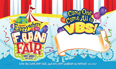 Vacation Bible School 2013 Everywhere Fun Fair Outdoor Banner VBS