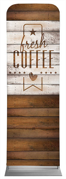 Coffee Barn Wood Sleeve Banner