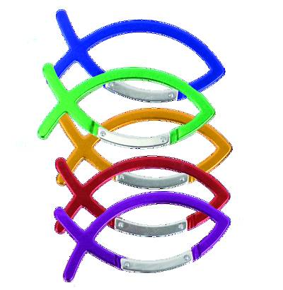 Picture of Vacation Bible School (VBS) Fish Carabiner - Pkg of 10