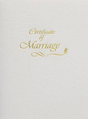 Contemporary Steel-Engraved Marriage Certificate (Pkg of 3)
