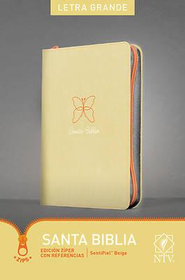 Picture of Santa Biblia Ntv, Edicin Zper Con Referencias, Letra Grande (Letra Roja, Sentipiel, Beige)