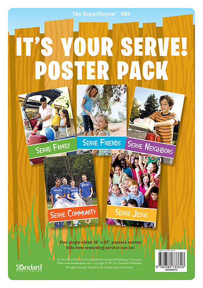 Standard Vacation Bible School 2013 Gods Backyard Bible Camp Under the Stars Its Your Serve! Poster Pack