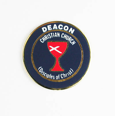 Lapel Pin Deacon Blue with Red Chalice (Disciples of Christ)