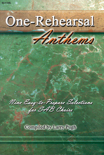 One Rehearsal Anthems Choral Book
