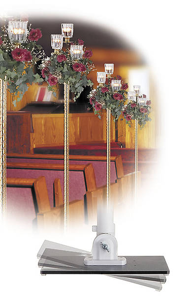 Adjustable Pew Candlestick Base