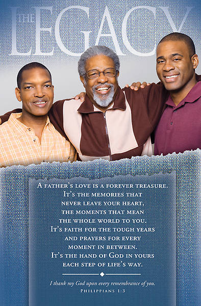 Picture of Father's Day Heritage Philippians 1:3 Bulletin Regular (Package of 100)
