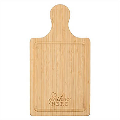 Picture of Engraved Bamboo Wood Cutting Board with Handle