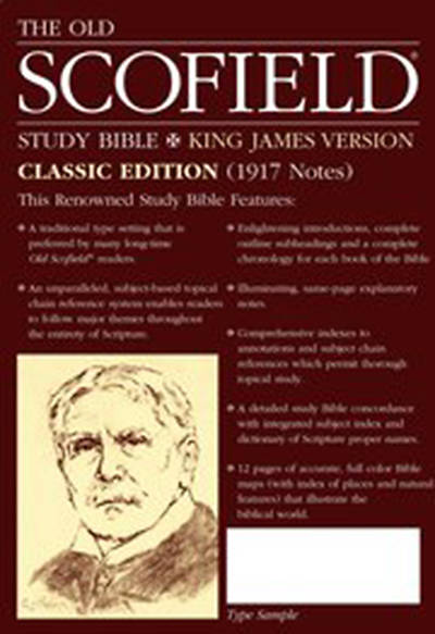 Picture of Old Scofield Study Bible-KJV-Classic