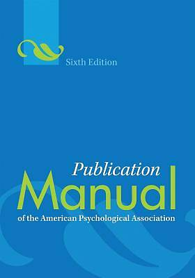 Picture of Publication Manual of the American Psychological Association