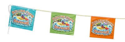 Vacation Bible School (VBS) 2018 Rolling River Rampage String Flags