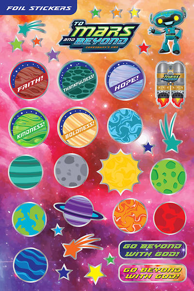 Picture of Vacation Bible School (VBS) To Mars and Beyond Foil Stickers (Pkg of 140)