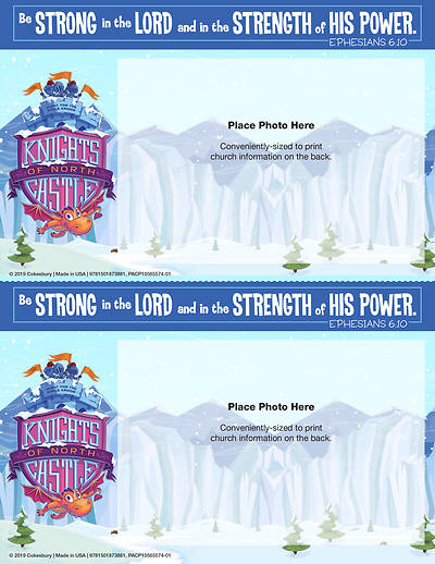 Picture of Vacation Bible School (VBS) 2020 Knights of North Castle Follow-Up Photo Frames (Pkg of 48)