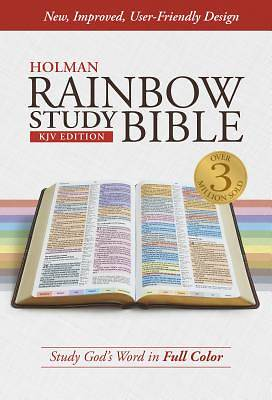 KJV Rainbow Study Bible, Jacketed Hardcover, Indexed