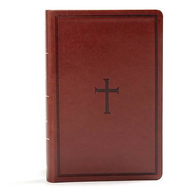 Picture of KJV Large Print Personal Size Reference Bible, Brown Leathertouch