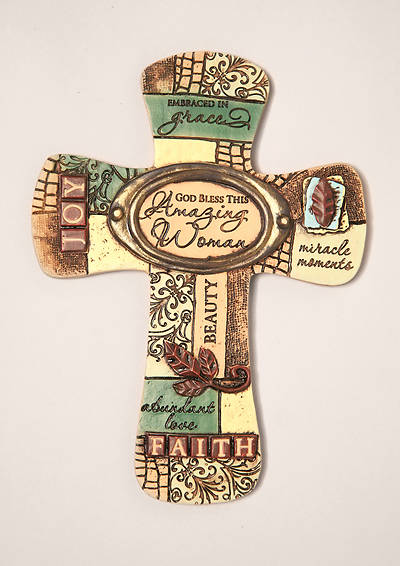 Amazing Woman Resin Wall Cross