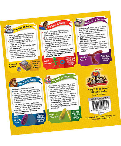 "Group VBS 2013 Kingdom Rock ""Try This at Home"" Sticker Sheets (pkg. of 10 sheets)"
