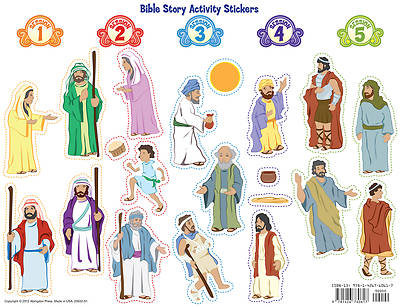 Vacation Bible School 2013 Everywhere Fun Fair Bible Story Activity Stickers VBS