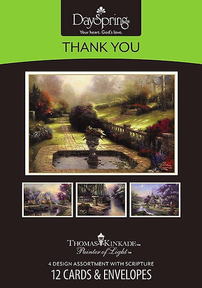 Thomas Kinkade - Thank You Boxed Cards - Box of 12