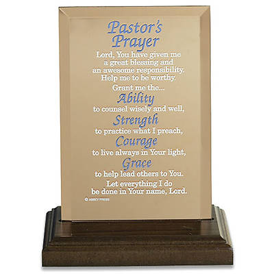 Plaque Reflections of Faith Pastors Prayer Mirrored Glass