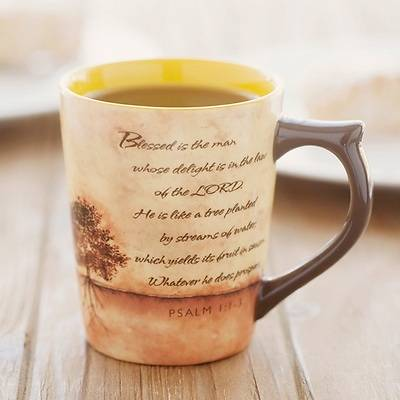 Picture of Blessed is the Man Planted Tree Mug
